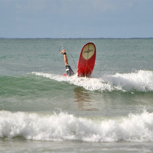A Sunshine Coast surfer is wiped out.