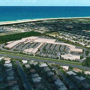 An artist's impression of the proposed Mudjimba shopping complex.