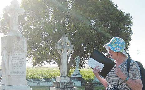 Historian Berenice Wright will host two guided cemetery walks this Saturday and next, exploring the fascinating characters of Mackay's past.