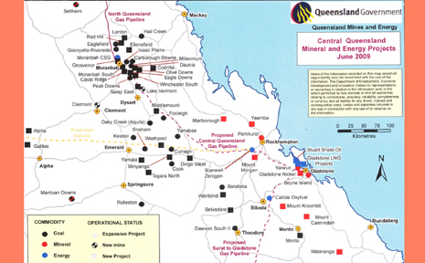 This map released by the Queensland Government to the Daily Mercury shows the extent of mining in our region. In Central Queensland, as a whole, there have been 24 new projects added in the past 12 months.