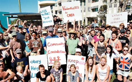 PASSION ran high with heartfelt messages at yesterday's rally protesting possible approval of a four-storey complex in Cabarita.