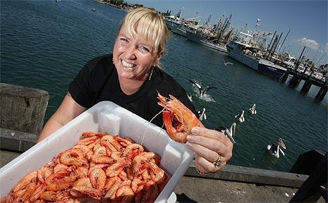 Browns Slipway's Vicki Brown is looking forward to the beginning of the upcoming prawn season.