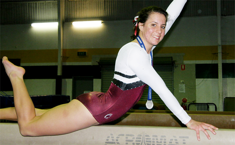 Mackay gymnast Claire Black competed in Perth at the Australian Championships.