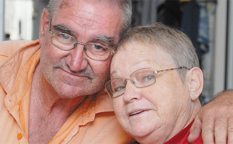 Brian and Liz Haley, of Andergrove, have been married for 33 years. Mrs Haley said she was lucky to be alive after being struck down by the flesh-eating bacteria neocrotising fasciitis.