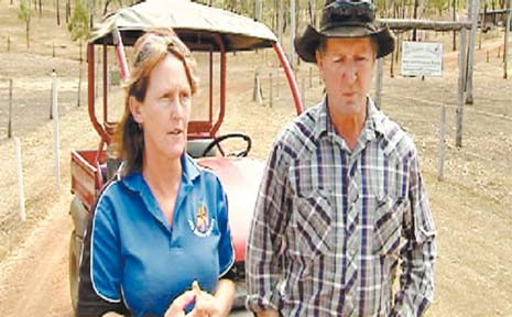 Debbie Brown and Adrian Daniels are in self-imposed quarantine at the Hendra-hit property.