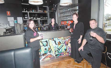 Enjoying the sweet taste of success at new Mackay restraunt and bar Sugar are, from left, Jamie Collier, Mehgan Post and Kelly and Jayson Walters.