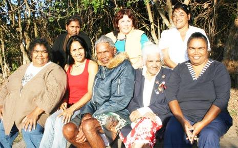 Members of the Bundjalung of Byron Bay Arakwal Corporation Board at Broken Head Caravan Park last Friday. Back row: Tina King, Theresa Nicholls, Yvonne Stewart. Front row: Sharon Roberts, Delta Kay, Mick Kay, Dulcie Nicholls, Annette Kelly.