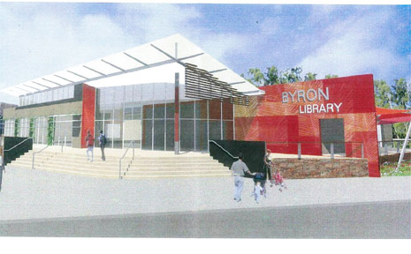 An artist's impression of the new $5.6 million Byron Bay Library.