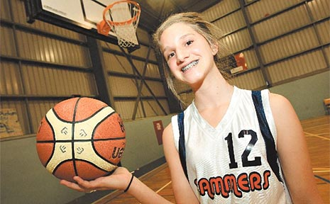 Tweed Coast Slammers basketball player Vanessa Mullen hopes to make an impact in the future.