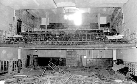 This historic photo shows the City Hall Theatre during its renovations in 1972.