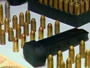 Man arrested after allegedly being found with bag of bullets