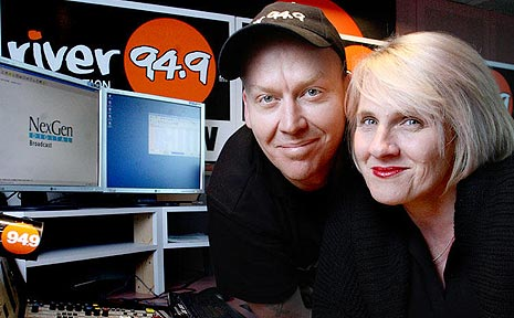 Nominated for Best On-Air Team at the Australian Commercial Radio Awards are Ruby and Dave from River 94.9.