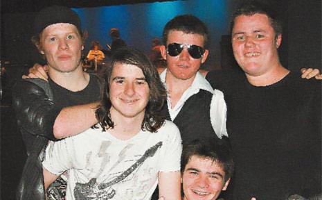 MEMBERS of band Bonfire - Cameron, Mitchell, Sam, Patrick ad Kurt - who played at the Banana Festival Alternate Music Festival on Saturday night.