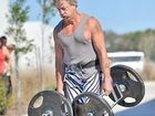 Graham Morton, 53, was the oldest competitor in the Sunshine Coast strongman competition. Photo: Brett Wortman/184449