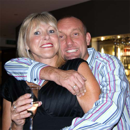 Shaun Akehurst (right) and his wife, Heather. Photo: Contributed