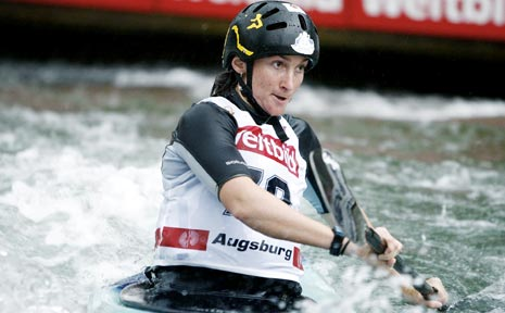 GIANT-KILLER: Old Bonalbo's Kate Lawrence placed third in the second round of the World Cup in Slovakia.