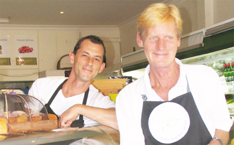 Bangalow Basics manager Bradley Wotton (left) and owner Kjeld Jakobsen are delighted to be trailblazers for a plastic bag free village.