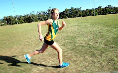 LESHAY Wells is fast making a name for herself in distance running.