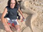 Sand sculptor Dennis Massoud refuses to get a permit to build sand sculptures. Photo: Brett Wortman/n23417
