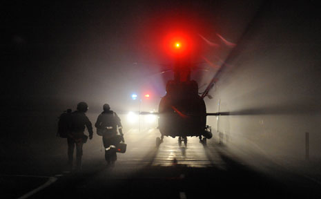 The Westpac Life Saver Rescue Helicopter conducted a night coastal search of Valla Beach on Tuesday for a lost fisherman.