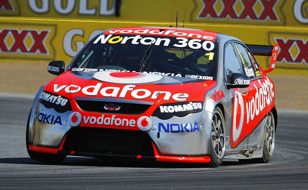 Jamie Whincup (car pictured) trails Will Davison by just 10 points.