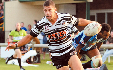 James Wood scored a try in his 100th match for Tweed heads.