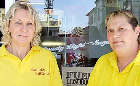 FIVE ATTACKS: Joy Lassig (left) and Louise Boyce, of Golden Chicken Casino.