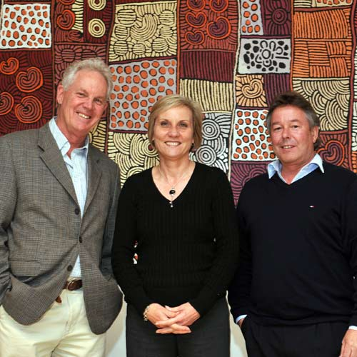 ASIC regional commissioner Maree Blake meets with David Jeffries (left) and Ian Buscombe (right) before speaking at the Business Professionals' Forum.  Photo: Warren Lynam/184555