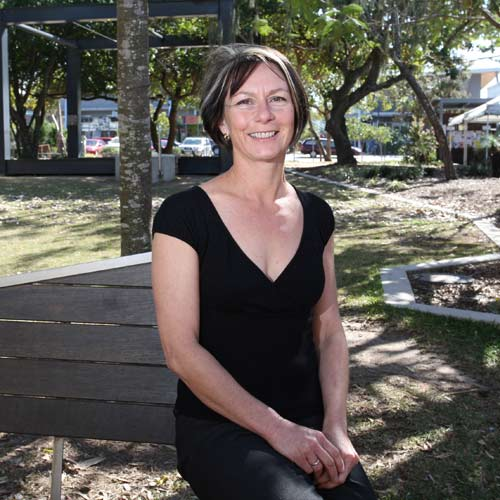 Maree Machin, of Bukaji Consultants, helps developers, councils and non-government organisations design people-friendly places and believes the village square in Pregian is one space that gets it right.  Photo: Nicholas Falconer/184506