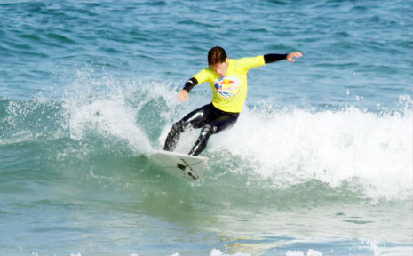 Suffolk Park's Ellis Ericson took out the final qualifying event of the Red Bull Junior Surf Masters at Bondi last weekend.