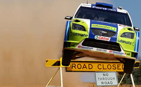 Repco Rally clears road block