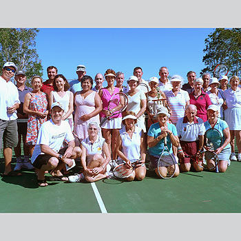 Members turned out for Coolum Tennis Club's annual Patron's Day. last weekend.