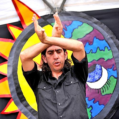 Festuri Festival at the University of the Sunshine Coast. Dance teacher Sebastian Sanchez shows his moves. Photo:Warren Lynam/184713