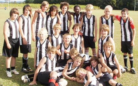 Byron Bay Public School's champion AFL team.