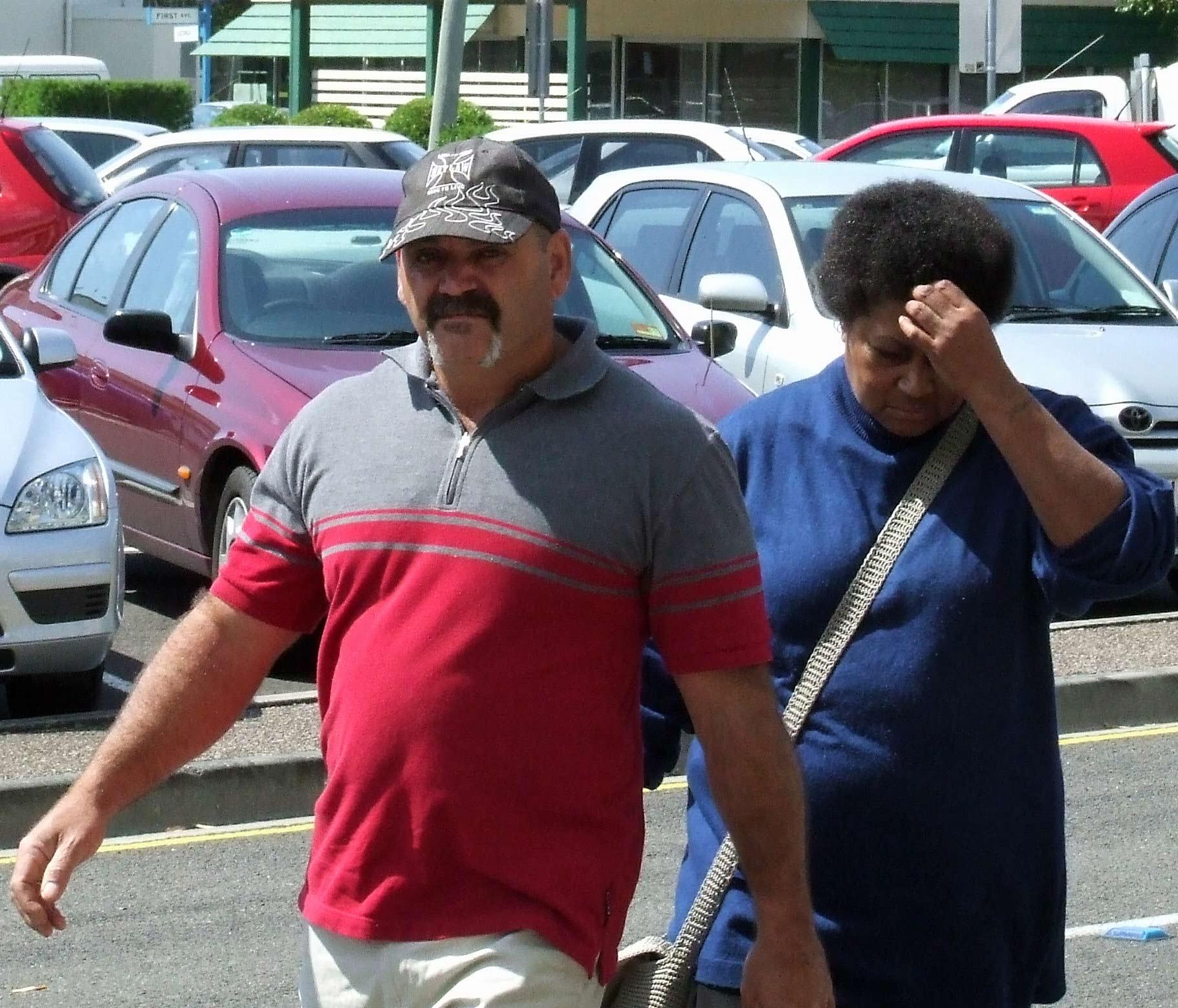 Warren John and Brianne Descima Jones arrive at Maroochydore Court.