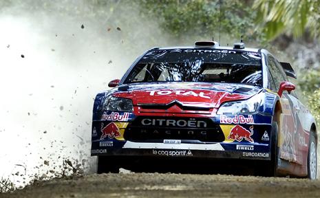 Dani Sordo competing in the rally.