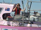 Jessica Watson on board Ella's Pink Lady.