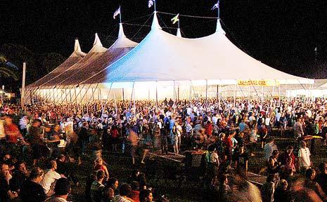 Bluesfest at Byron Bay.