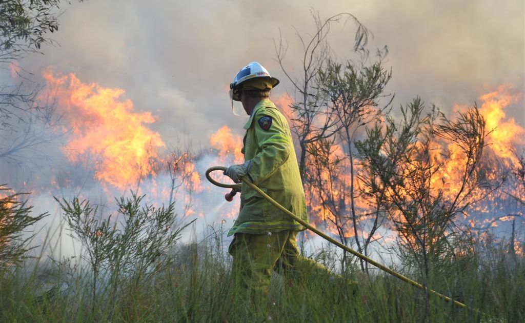 Bushfires are flaring across south-east Queensland.