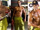 Coast heroes, Chris Keong, Clinton King and Denis Donadel feature in the 2010 Firefighters Calendar. Photos: Taefi Photography