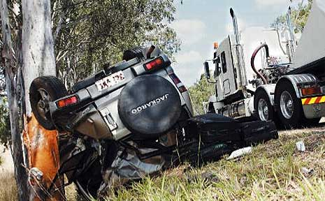 Two vehicles carrying three people collided about 20km north of Gin Gin on Tuesday morning.