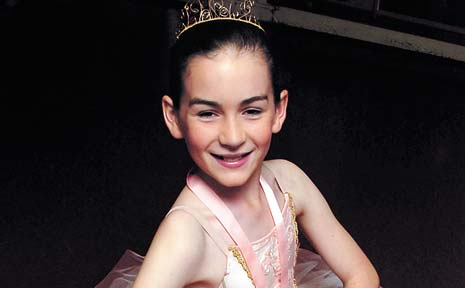 TOP SHOW: Ballet dancer Bridget Mulholland, from McLeans Ridges, won a gold medal at a competition in Brisbane last weekend.