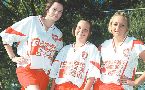 SHARNAGH Young, Penny Walsh and Samantha Walsh from Tumbulgum Rangers are confident of a win in tonight's grand final against Goonellabah.