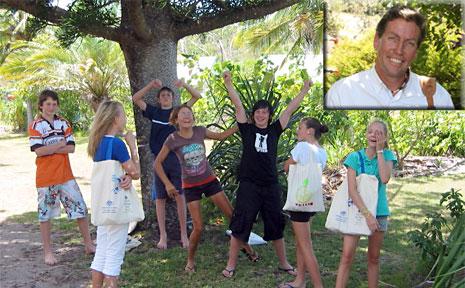 Aus Identities works with school children across the Sunshine Coast, (inset) Michael White.