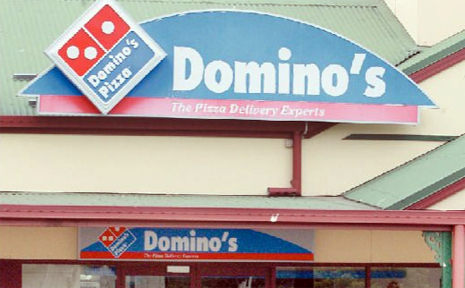 Domino's and its franchisees operate 455 pizza outlets throughout the country.
