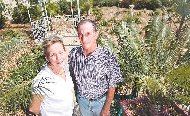 Gracemere's Mary and Ian McKenzie won grand champion garden on Saturday in the 2009 Regional Garden Competition.