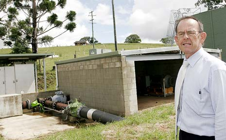 FUTURE HOPE: Wayne Franklin, engineer at Rous Water, inspects the Wilsons River Source pumping station upstream of Lismore. The facility will help drought-proof our fast-growing region.