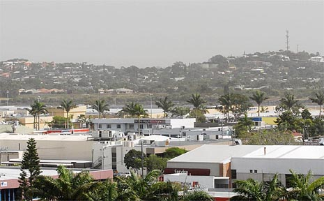 This dust storm created international headlines when it hit Brisbane and Sydney but creates only a mild haze around Mackay yesterday. It was expected to be almost gone by this morning.