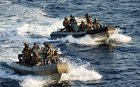 HMAS Toowoomba Boarding Party conducts a thorough and effective search. The search of the suspect vessel revealed a cache of weapons including a Rocket Propelled Grenade Launcher (RPG), six AK47 Assault Rifles, a G3 Assault Rifle and a large quantity of ammunition.