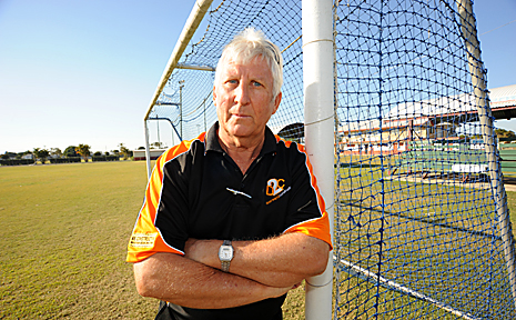 President of the North Bundaberg Football Club Ian Clarke is still shocked by a violent attack on his son during the division 2 grand final. Photo: MAX FLEET socc2909a